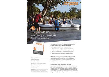 Torqeedo Travel Warranty Extension Flyer