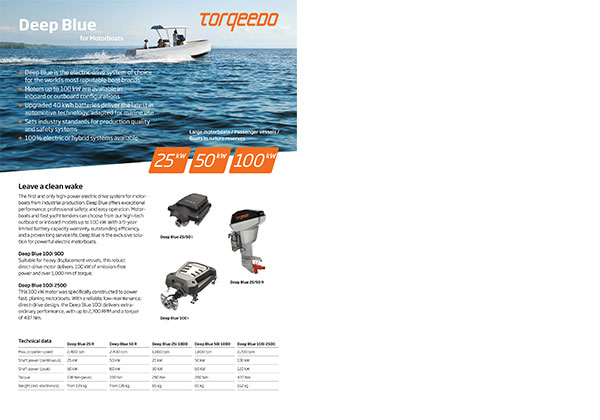 Torqeedo Deep Blue Motorboats Flyer