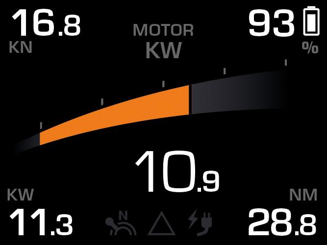 Torqeedo TorqLink Throttle Power Screen