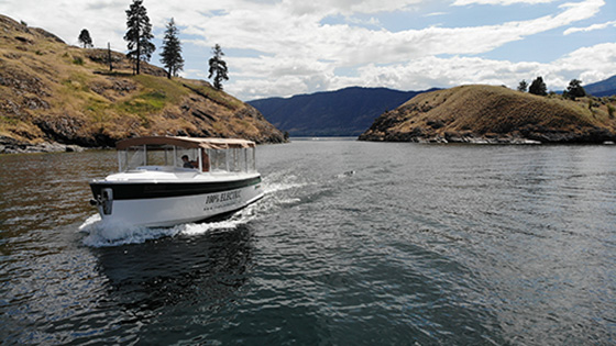 Canadian boatbuilder's new line of electric boats